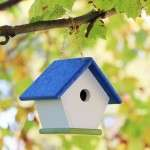 Hanging Bright Blue and Green Bird House